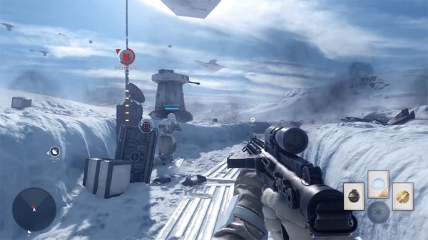 Star Wras Battlefront Hoth Uplink Screenshot