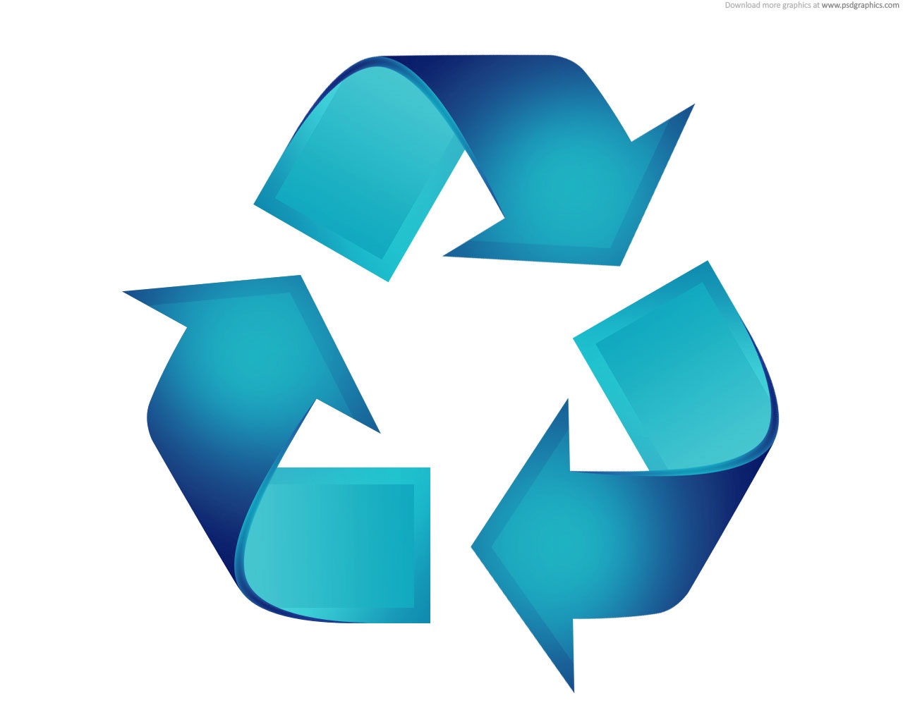 Recycling Logo Blau